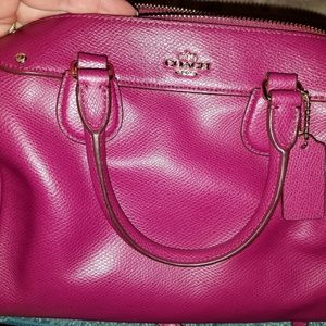 Coach Fuschia Mini Bennett with matching wallet